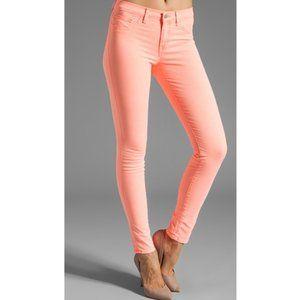 J BRAND Neon Coral Skinny Stretchy Jeans 25
